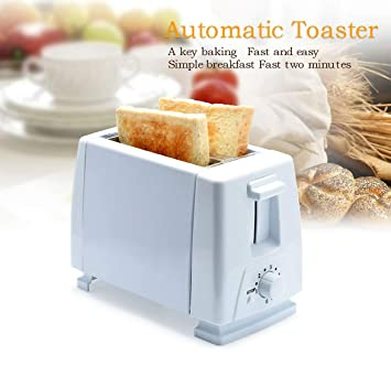 32396a125a6 Buy shopper 52 Automatic Toaster 2 Slices Stainless Steel Multi Function  Electric Bread Toaster Oven with EU Plug for Breakfast (White) Online at  Low Prices ...