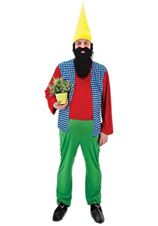 Happy Gnome Costume - Adult Male One Size (disfraz): Amazon.es ...