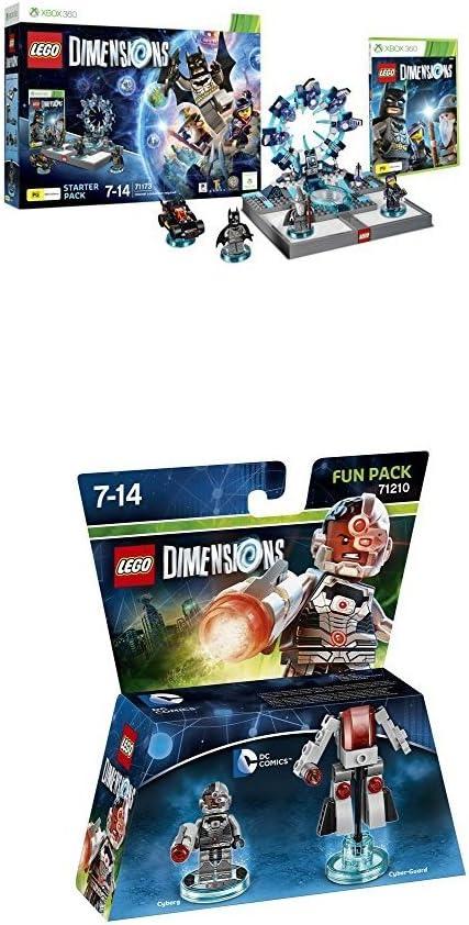LEGO - Starter Pack Dimensions (Xbox 360) + LEGO Dimensions - Cyborg: Amazon.es: Videojuegos