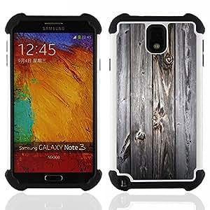/Skull Market/ - Wood For Samsung Galaxy Note3 N9000 N9008V N9009 - 3in1 h????brido prueba de choques de impacto resistente goma Combo pesada cubierta de la caja protec -