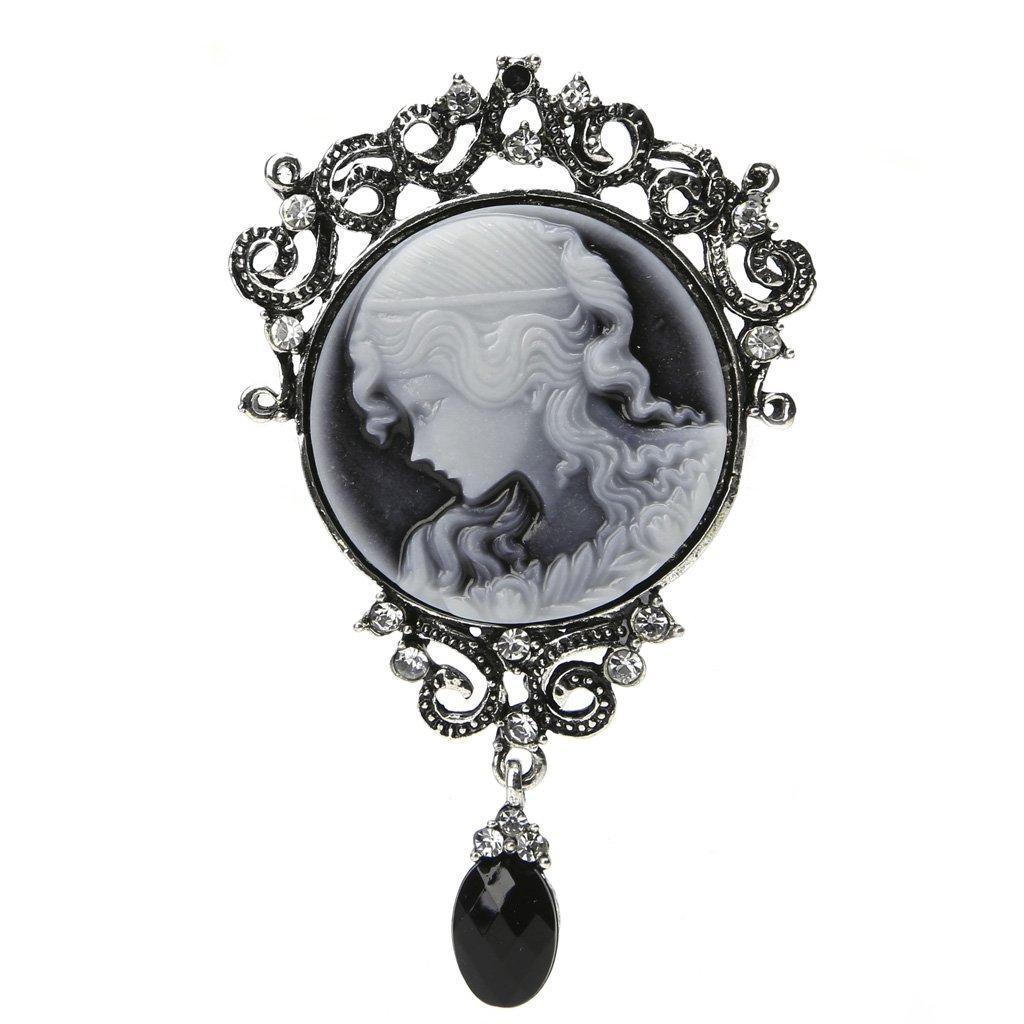 FlYHIGH Broche Femmes /él/égantes Lady Bijoux Antique Vintage Victorienne cam/ée Broche Pendentif