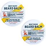 Duke Cannon Supply Co. Best Beard Balm, Redwood Scent, 1.6oz (2 Pack)