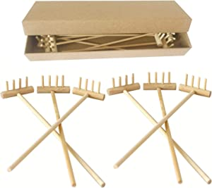 BangBangDa Mini Zen Garden Rake - Tabletop Rock Garden Sandbox Tools Kits - Japanese Desktop Meditation Sand Box Accessories