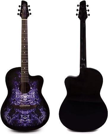 Lindo 933 C extranjero morado guitarra acústica y funda (aprendiz Series)