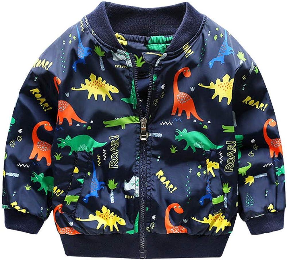 Giacca Bambino Invernali Dinosauro,Homebaby Giacca del Mantello del Cappotto di Inverno della...