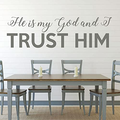 Bible Verse Wall Art   Psalm 91:2 Wall Decal   He Is My God