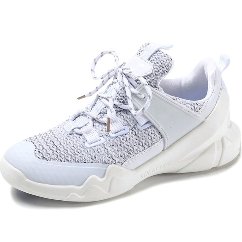 NAN Chaussures Femmes été épais Fond Respirant Net Chaussures Blanches Chaussures (Couleur : Blanc, Taille : EU37/UK4.5-5/CN37)