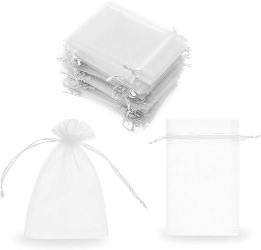 SumDirect Lot de 100/pochettes en organza de 7/x 9/cm