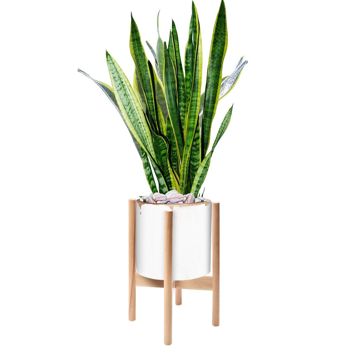 62a4f651bb8a Amazon.com : Mid Century Modern Plant Stand, Best Fits 8.5'' Indoor Plant  Rack, For Small/Medium Wooden Flower Pot (Planter Not Included) : Garden &  Outdoor