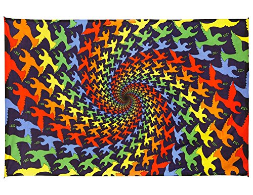 - Sunshine Joy 3D Trippy Spiral Tapestry Tablecloth Beach Sheet 60x90 Inches - Peace Dove
