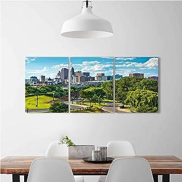 Aolankaili Moderne Dekoration Wohnzimmer Schlafzimmer Home Cumberland River  Nashville Tennessee Abend Reiseziel Art Wall Decor Rahmenlose