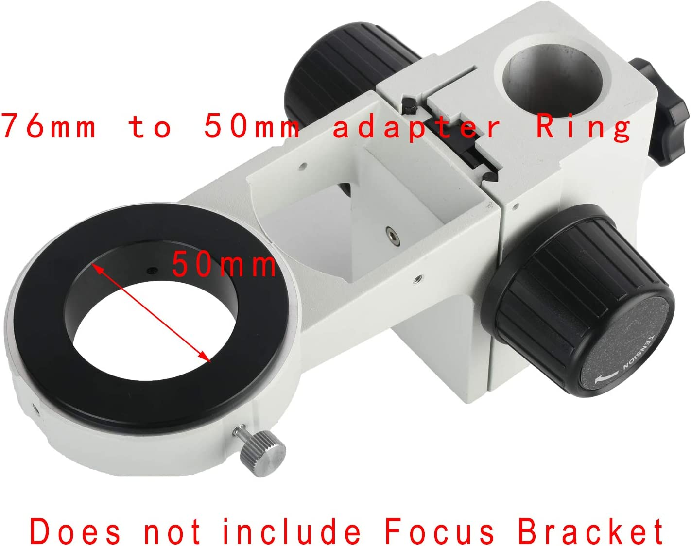 KOPPACE Stereo Microscope Focusing Bracket Lens Interface 76mm to 50mm Microscope Adapter Ring