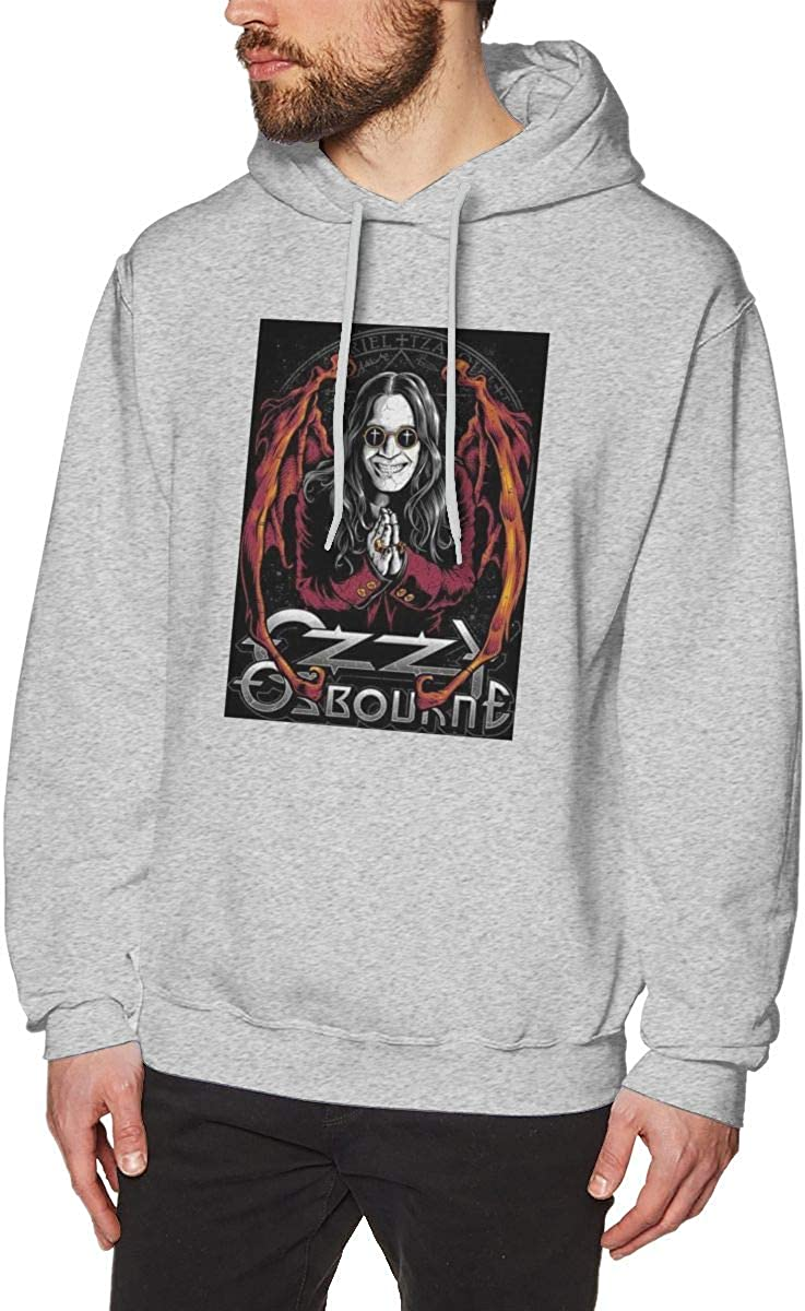 HelplesS Ozzy Osbourne Cool Mens Hat and Pocketless Sweater Gray XL