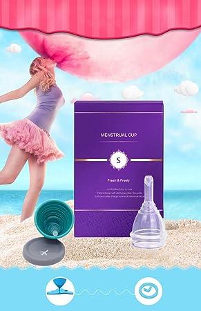 Copa menstrual - paquete estéril & válvula de descarga - vacía tu copa sin quitártela -