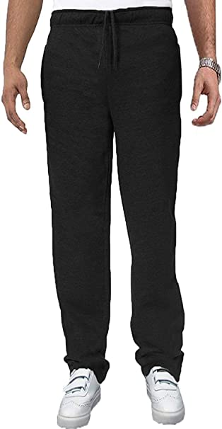 XXL-8XL Mens Plus Size Elasticated Comfort Fit Open Hem Jogging Pants