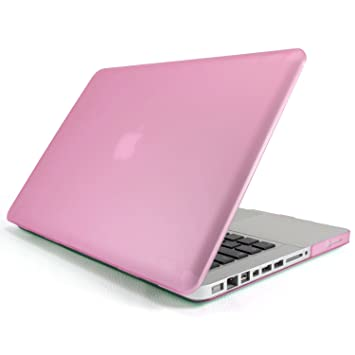 Incutex funda para ordenador portátil para Apple MacBook, rígida rosa oscuro