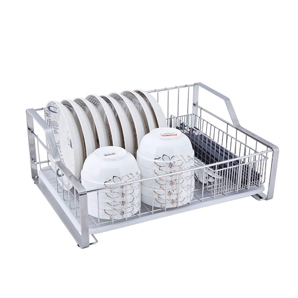 LWT 304ステンレス鋼排水ラック、箸を使った食器乾燥ラックケージドリップトレイ43 * 33 * 17.5cm B07RZZZGF2
