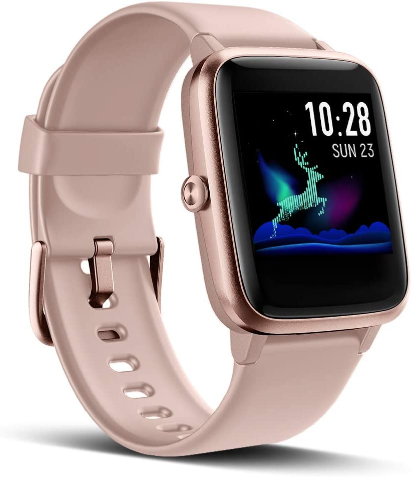 LATEC Reloj Inteligente, Impermeable IP68 Smartwatch Mujer Hombre niños Pulsera de Actividad Inteligente con Monitor de Sueño Contador de Caloría Pulsómetros Podómetro para iOS y Android