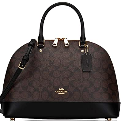 a0acb61f82 Amazon.com: SALE ! New Authentic COACH Sierra Satchel Dome Brown/Black  Satchel Handbag with Strap for Shoulder Wear!: Shoes