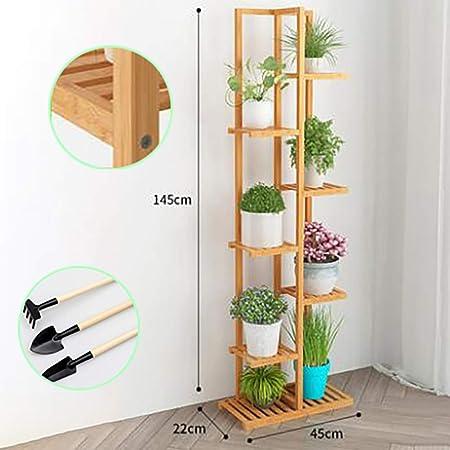 GUYUN Soporte para Macetas Estantería para Macetas En Diseño De Escalera para Plantas Flores,Bastidor para Macetas,Yellow,7thfloor: Amazon.es: Hogar