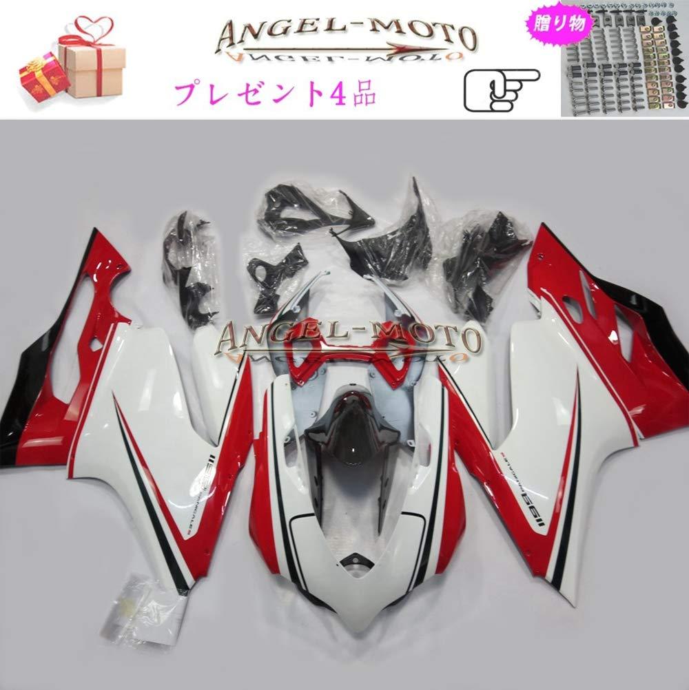 Angel-moto バイク外装パーツ 対応車体 DUCATI 899/1199 2012 2013 Ducati 1199 12-13 カウル フェアキット ボディ機械射出成型ABS樹脂 フェアリング パーツセット フルカウルセットの D113   B07JM23F43