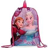 DISNEY Frozen Magic - Sacca a Spalla con Cordoncini per Bambini - Colore: Multicolor