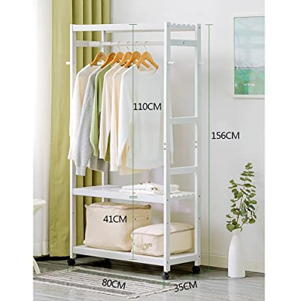 Amazon.com: Coat Racks Wardrobe Wood Coat Racks Hangers ...