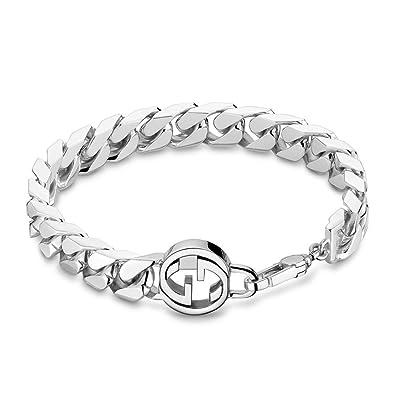 55a7f2f540ae Gucci Interlocking Chain Bracelet yba356263001020  Amazon.co.uk  Jewellery