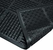 Wearwell Natural Rubber 227 OutFront Reversible Mat, for Outdoor Entrances, 3' Width x 6' Length x 7/1