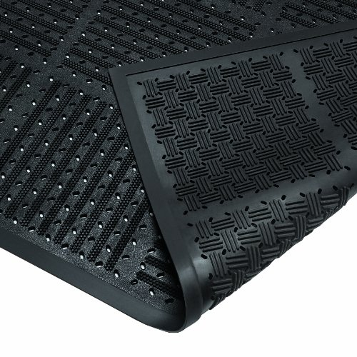 - Wearwell Natural Rubber 227 OutFront Reversible Mat, for Outdoor Entrances, 3' Width x 6' Length x 7/16