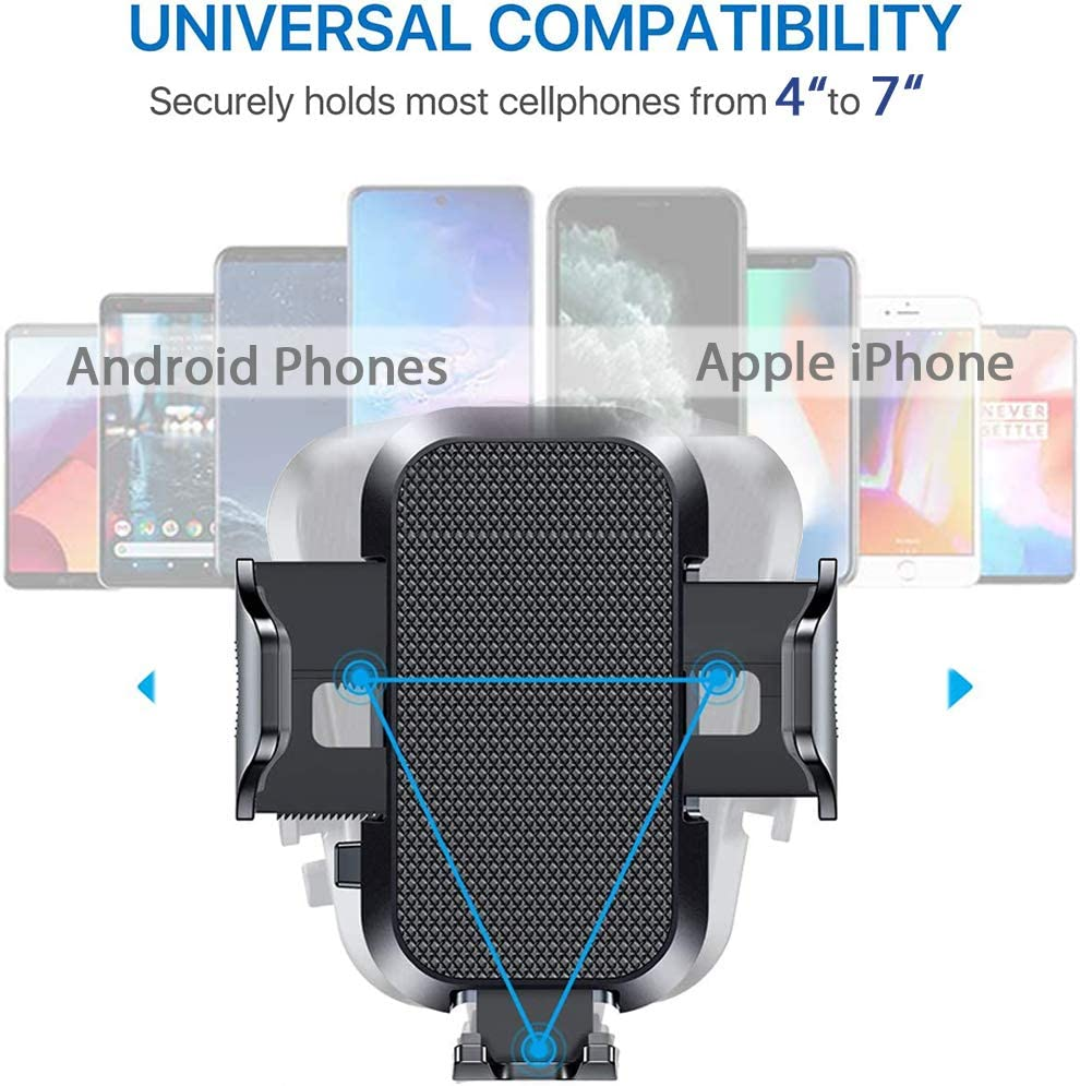 SUPBEC Cup Car Phone Mount Holder Universal Adjustable Smartphone Car Mount Holder Cradle Compatible with iPhone 11//Xr//8//7,Samsung Galaxy S10//9//LG//Sony Nokia-Black Stable