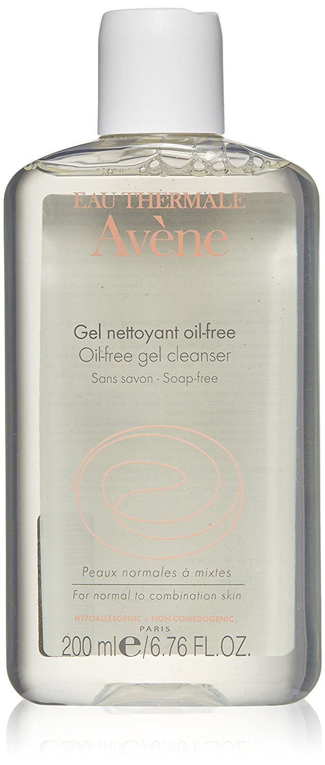 Eau Thermale Avene Oil-Free Gel Cleanser, Daily Face Wash for Normal to Oily, Mattifying, Hypoallergenic, 6.7 oz.