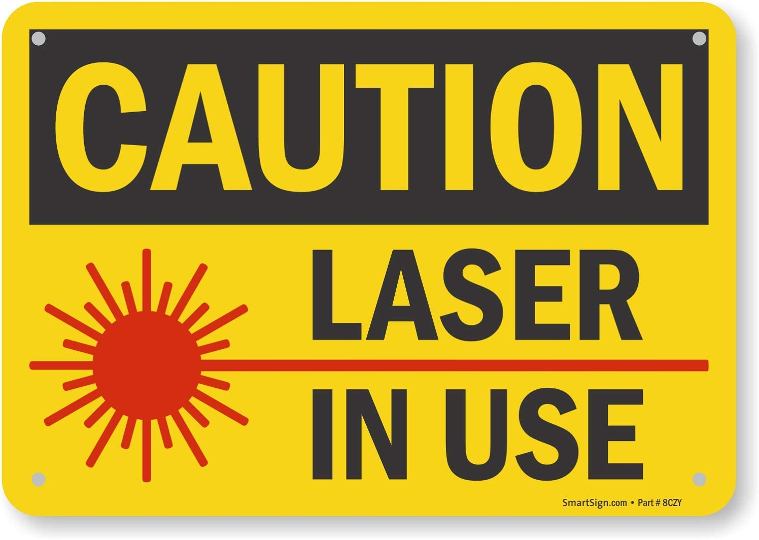 """Caution Sign 10 x 14/"""" OSHA Safety Sign Do Not Operate Without Eye Protection"""