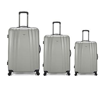 Set de 3 maletas trolley, Maletas rígidas de material muy ligero ABS con 4 ruedas