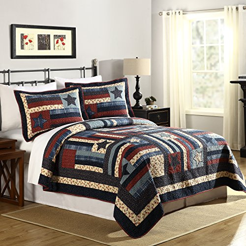 Mary Jane's Home Liberty Quilt Full Queen 90X90'' Multi