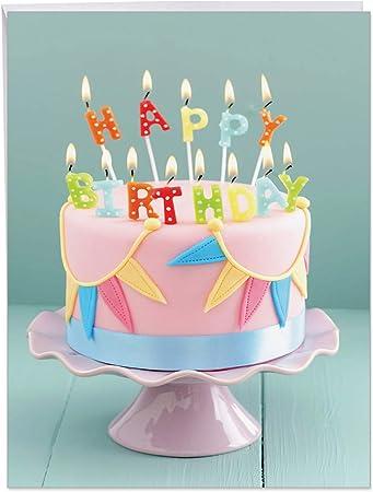 Amazon.com: j4193abdg Jumbo tarjeta de cumpleaños: Blowouts ...