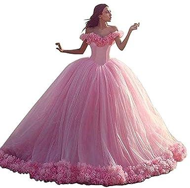Yasiou Hochzeitskleid Damen Rosa Tull Vintage Brautkleider Strand
