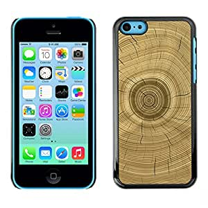 For Apple iPhone 5C Case , Tree Core Rings History Brown - Diseño Patrón Teléfono Caso Cubierta Case Bumper Duro Protección Case Cover Funda