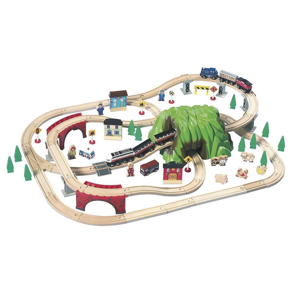 Amazon.com: Mountain Pass Rail Road 100piece By Imaginarium: Toys ...