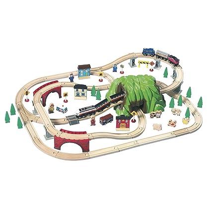 Amazon Mountain Pass Rail Road 100piece By Imaginarium Toys