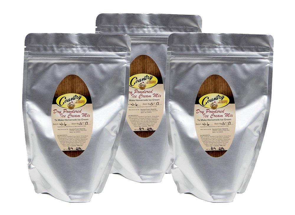 Dry Powdered Ice Cream Mix (Makes 6 qt.) 8.4 oz (3 Pack)