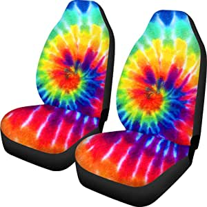 INSTANTARTS American Flag Printed Vintage Breathable Anti Skid Bucket Car Front Seat Covers,Universal Fit Saddle Blanket Seats Cushion