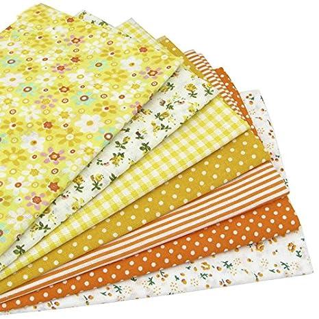 7 piezas 49cm * 49cm tela de algodón estampado floral para patchwork,telas para hacer patchwork, telas tilda, retales de telas, tela algodon: Amazon.es: ...