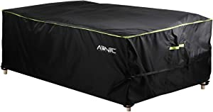 AWNIC Patio Table Cover Furniture Set Cover Large Rattan Garden Furniture Set Cover for 2-Seater Waterproof Outdoor Rectangle 420D Polyester UV Resistant Germany TÜV Rheinland Certified 96x63x28in