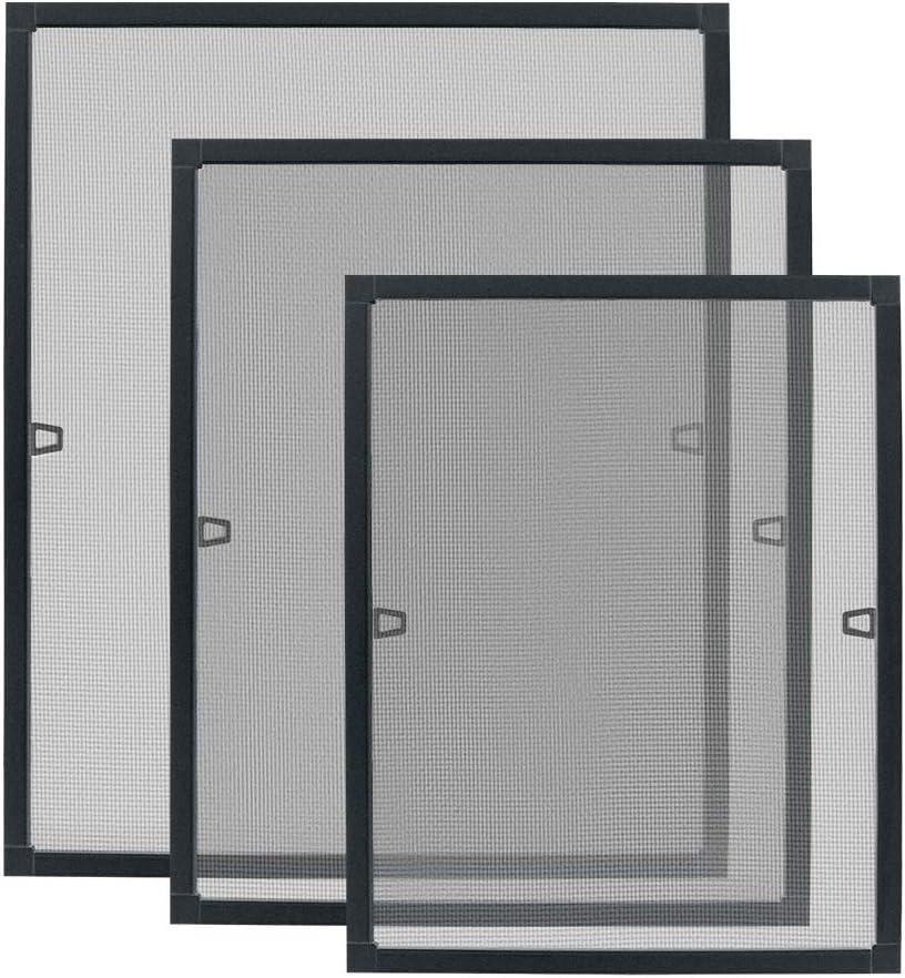 80x100cm, Fenster-Anthrazit HENGMEI Fliegengitter Fenster Insektenschutz Insektenschutzrahmen Spannrahmen m/ückengitter gitter mit Aluminium Rahmen ohne Bohren f/ür Fenster