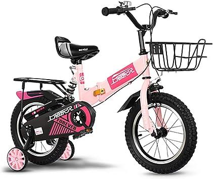 SHARESUN Bicicleta para niños Plegable, 12