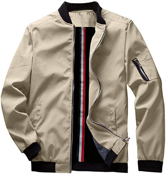 Page navigation bomber jacket supplier