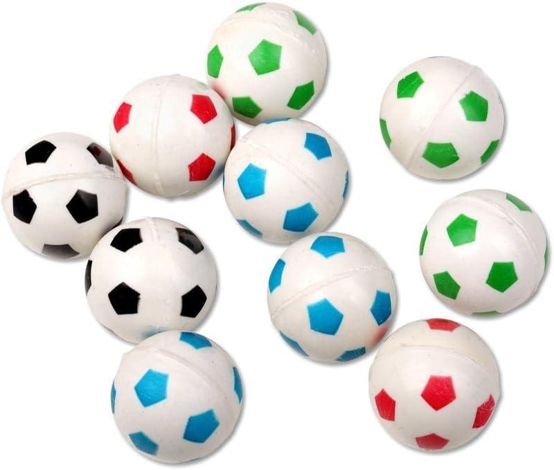 Schramm® 10 Piezas de Goma de Bolas de Rebote diseño de fútbol ...