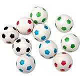 Schramm® 10er Pack Flummis Fußball Design 27mm Flummis Springball Hüpfball Mitgebsel Tombola Kindergeburtstag