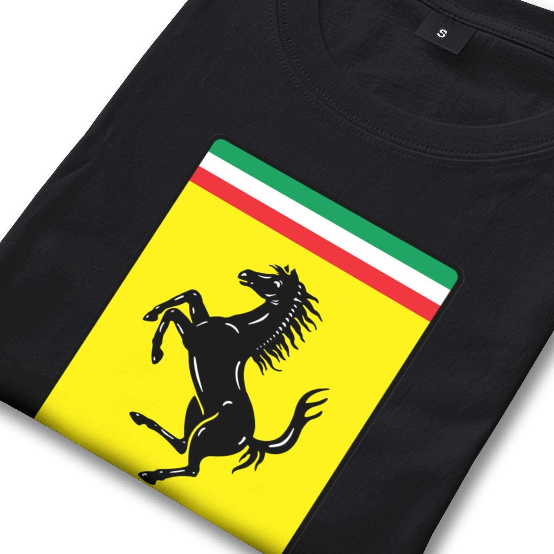 Short Sleeved Cotton Tshirts Boys Ferrari-Logo